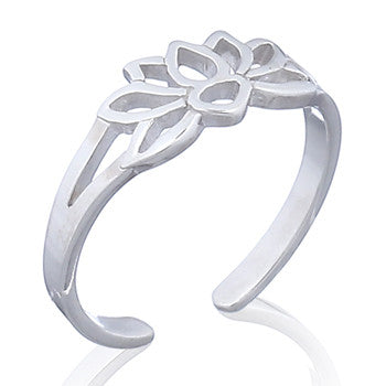 Lotus Toe Ring
