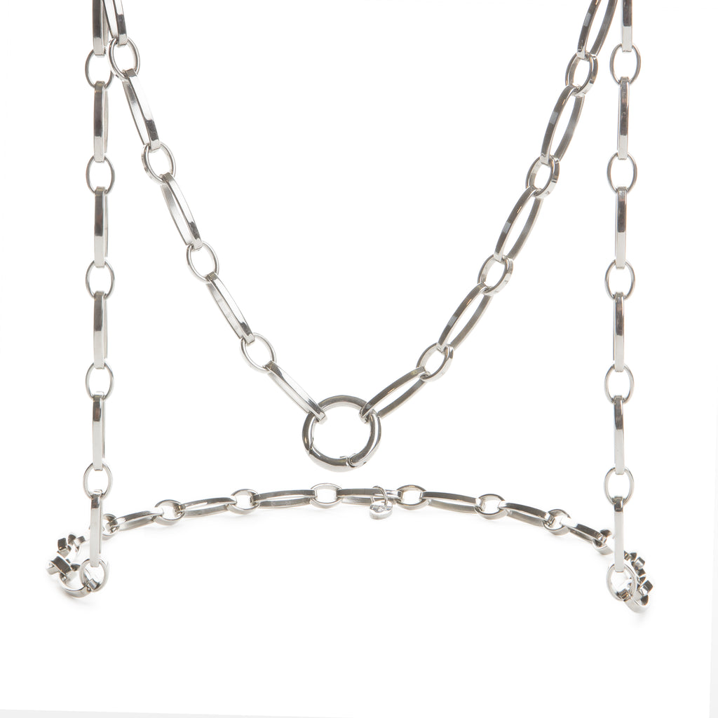 75cm Steel Link Necklace