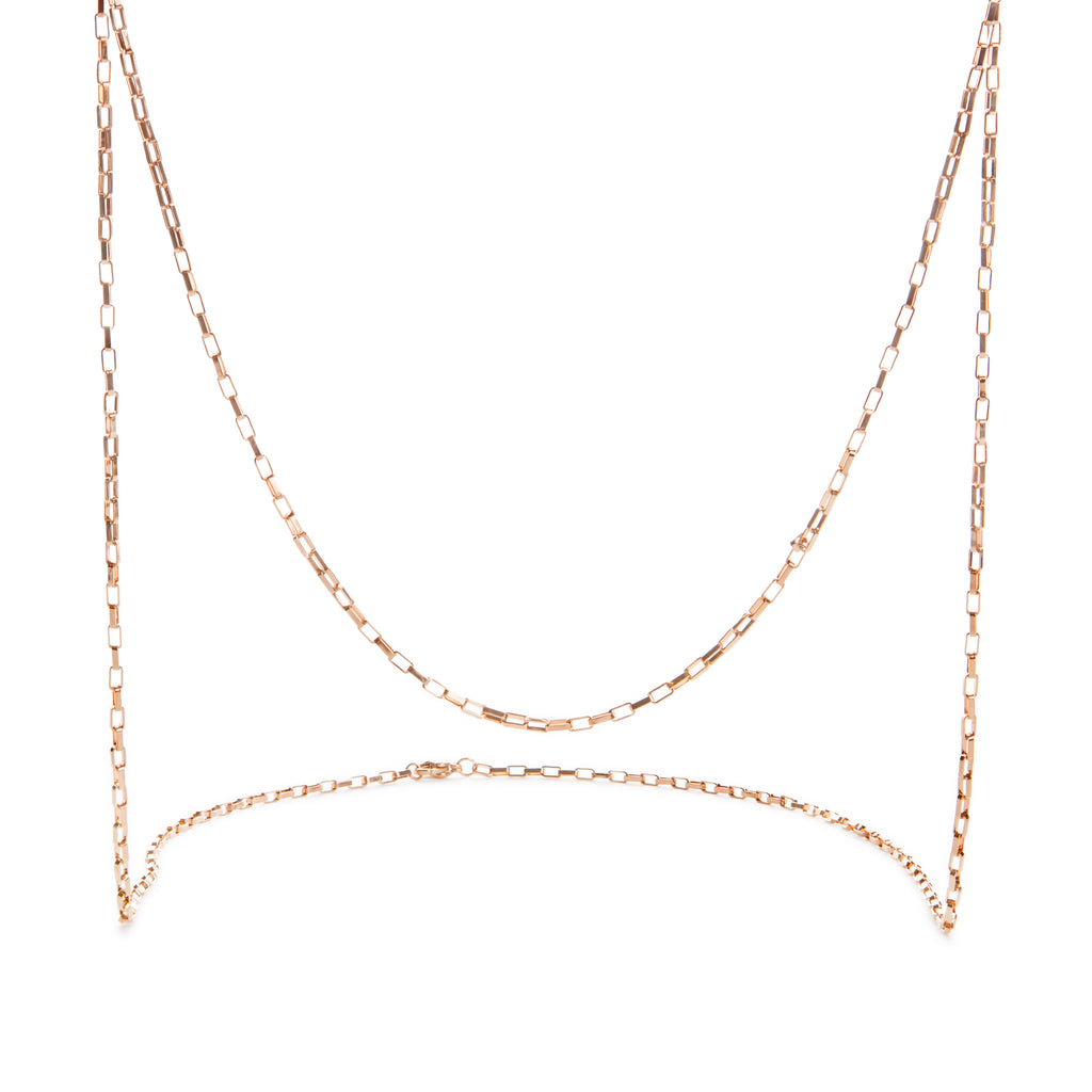 Box Chain Rose Gold Long