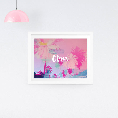 Personalised Palm Tree Print  - Personalised print - Ruby and B Studio