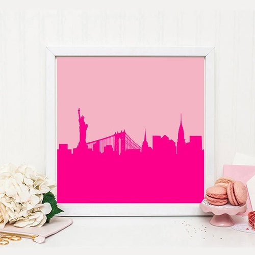 New York print - New York Skyline Print - Ruby and B Studio