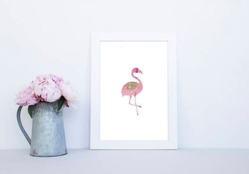 Pink Flamingo Print, Rose Gold Print, Rose Gold Decor, Flamingo Wall Decor, Flamingo Art, Flamingo Home Decor, Gift for her, Nursery decor - Ruby and B Studio