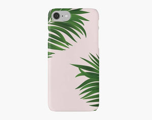 Green Palm Tree iPhone 7 case, iPhone 7 plus case, neon iPhone case, pink iPhone case - Ruby and B Studio