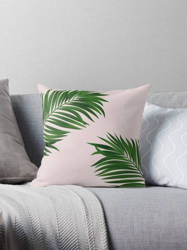 Palm tree print pillow, green pillow, customised decor, home decor, gift for her, Palm tree decor, tropical decor, Summer decor - Ruby and B Studio