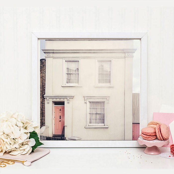 London house photography print, London wall decor, Pink decor, Classic London print, Britain, gift for her, gift for him - Ruby and B Studio