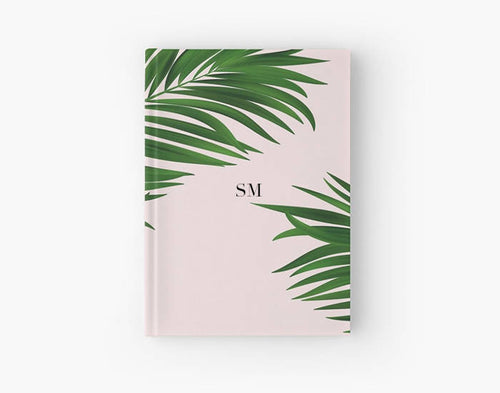 Personalised journal, Personalised notebook, Gift for her, bridal gift, millennial pink stationery, Bridesmaid gift, Palm print - Ruby and B Studio