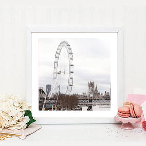 London photography print, London wall decor, London Eye print, Classic London print, large wall print, Britain, gift for her, gift for him - Ruby and B Studio