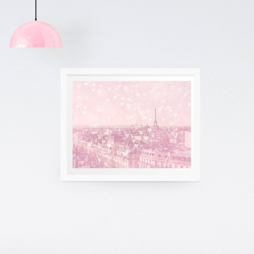 Paris Eiffel Tower Photography print, Valentine's Gift, Paris gift for her, Paris gift, Valentine's gift for her, love heart print - Ruby and B Studio