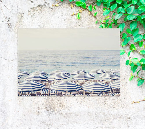 Aerial beach print garden canvas - Ruby and B Studio
