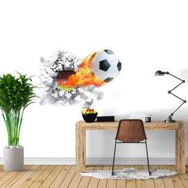Football Through Wall Sticker-TipTopHomeDecor
