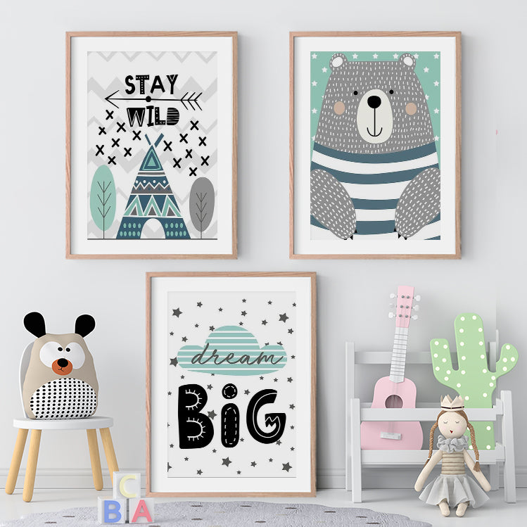 Dream Big Bear Wall Art Prints