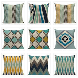 Yellow Turquoise Pillow Covers-TipTopHomeDecor