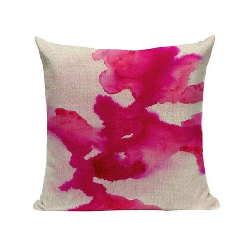 Tiptophomedecor Abstract Art Watercolor Waves Stripes Throw Pillow Cushion Covers