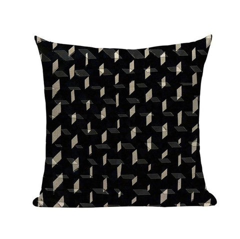 Abstract Black And White Geometric Spiral Home Decor Pillow Covers-Tiptophomedecor