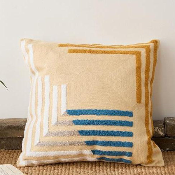 Abstract Geometric Blush Mustard Blue Cushion Covers-TipTopHomeDecor