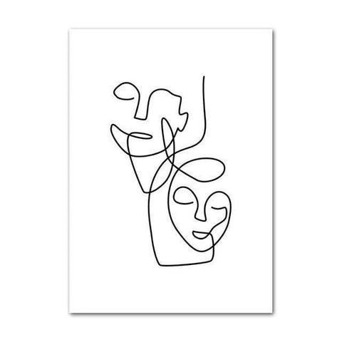 Abstract Line Drawing Wall Art-TipTopHomeDecor