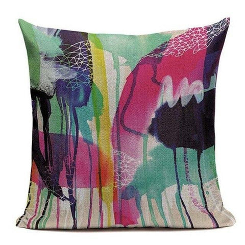 Abstract Modern Colorful Watercolor Art Cushion Covers-Tiptophomedecor