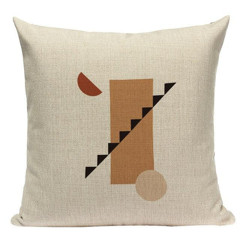 Abstract Modern Geometric Earth Colors Terracotta Bohemian Cushion Covers-TipTopHomeDecor