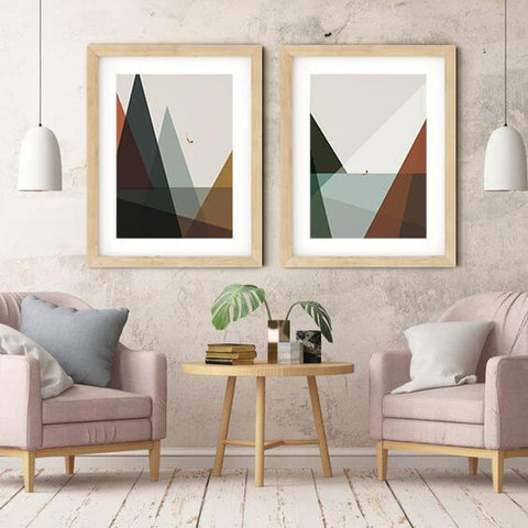 Abstract Mountain Sea Nordic Canvas Art Painting-Tiptophomedecor-Interior-Design-Home-Decor