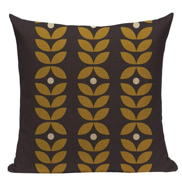 Abstract Nordic Geometric Flowers Cushion Covers-TipTopHomeDecor