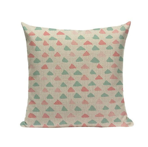 Abstract Pattern Symmetrical Fuchsia Figures Cushion Covers-Tiptophomedecor-Interior-Design-Home-Decor