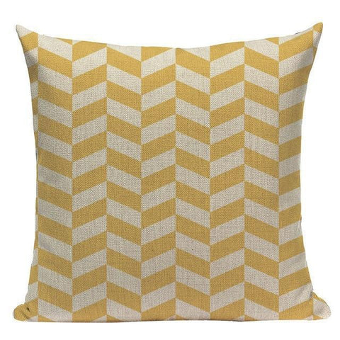Abstract Yellow Grey Pillow Cases-TipTopHomeDecor
