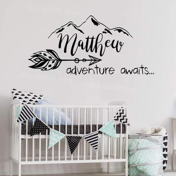 Tiptophomedecor Adventure Kids Name Decal