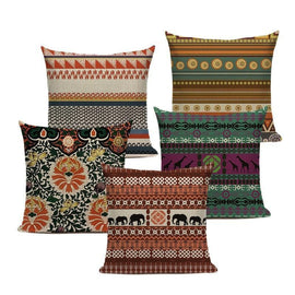 African Bohemian Tribal Throw Pillow Covers-Tiptophomedecor-Interior-Design-Home-Decor