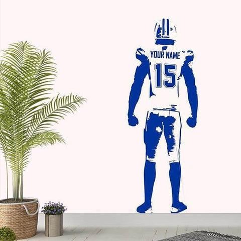 American Football Rugby Custom Name Number Vinyl Wall Sticker-Tiptophomedecor-Interior-Design-Home-Decor