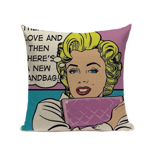 American Pop Art Modern Art Cushion Covers-Tiptophomedecor