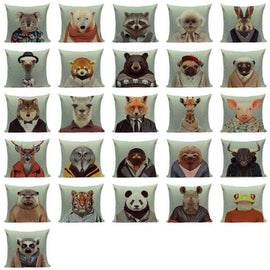 Animals in Clothes Cushion Covers-TipTopHomeDecor