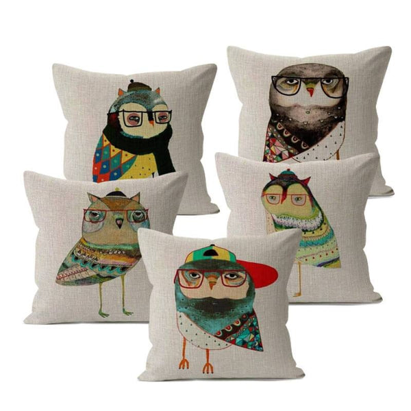 Cartoon Owl Cushion Covers