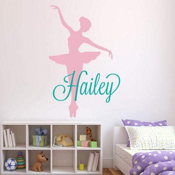 Tiptophomedecor Ballerina Girls Name Decal