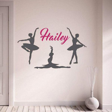 Tiptophomedecor Ballet Girls Name Decal