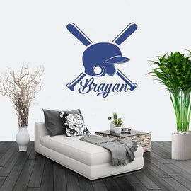 Baseball Custom Name Decal-Tiptophomedecor-Interior-Design-Home-Decor
