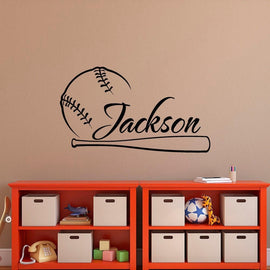 Baseball Sport Custom Name Wall Sticker-Tiptophomedecor-Interior-Design-Home-Decor