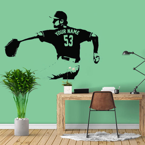 Baseball Player Custom Name Decal