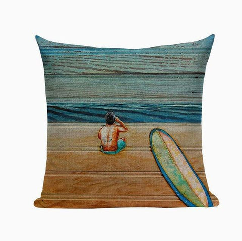 Beach Vacation Scenery Hand Painted Pillow Covers-Tiptophomedecor