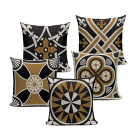 Beige Blue Classic Nordic Style Geometric Cushion Covers-Tiptophomedecor