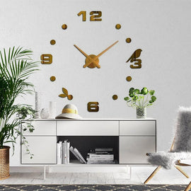 Bird Modern 3D Wall Clock Decal-TipTopHomeDecor