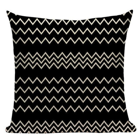 Black And White Turquoise Grey Geometric Throw Pillow Cases-Tiptophomedecor