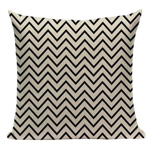 Black White Love Not War Nordic Cushion Covers-Tiptophomedecor