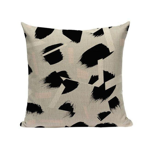 Black White Pink Watercolor Art Dots Stripes Cushion Covers-Tiptophomedecor