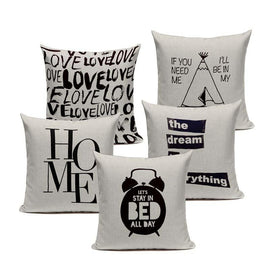 Black White Quote Love Home Wild Free Cushion Covers-Tiptophomedecor