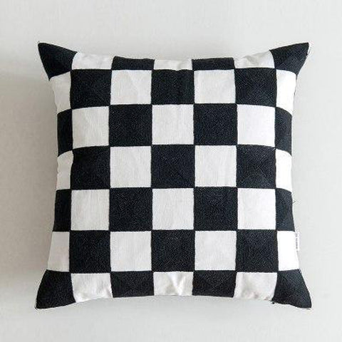 Black White Stitched Pillow Covers-TipTopHomeDecor