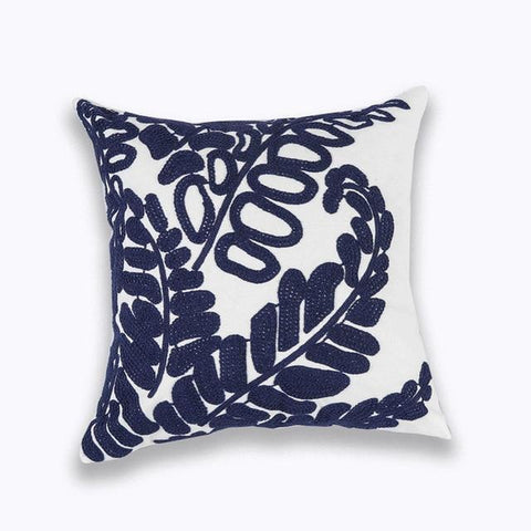 Blue Mandala Flower Geometric Embroidered Cushion Covers-TipTopHomeDecor