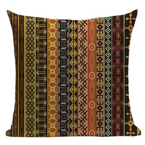 Blue Red Ethnic Tribal Throw Pillow Cases-Tiptophomedecor-Interior-Design-Home-Decor