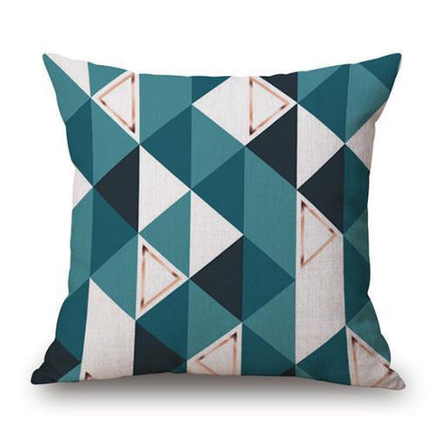 Blue Teal Turquoise Yellow Dear Mountain Arrow Nordic Pillow Cases-Tiptophomedecor