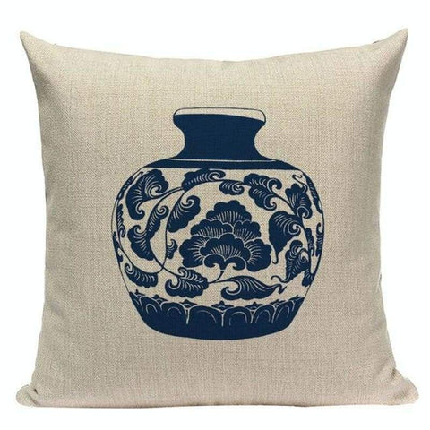 Blue White Porcelain Cushion Covers-TipTopHomeDecor