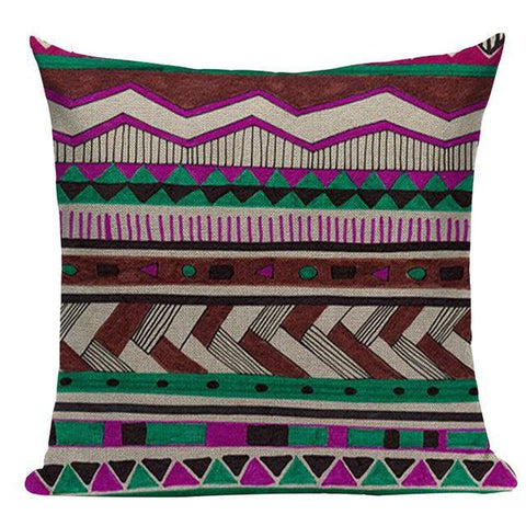 Bohemian Ethnic Geometric Pattern Throw Pillow Cushion Covers-Tiptophomedecor-Interior-Design-Home-Decor